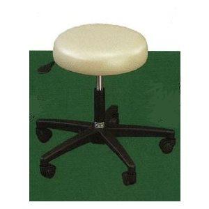 Standard stool, round seat with no backrest, auto-lift, 5-leg
