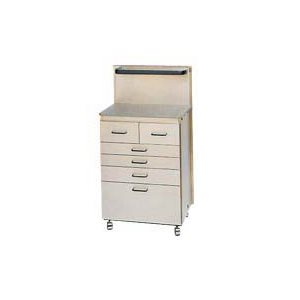 Cabinet de rangement std, SS, 6 tiroirs (sans otoscopes)