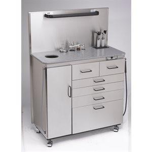 Cabinet de Traitement DeLuxe, Inox, Otoscopes WA, Rechargeables