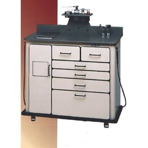 Alucobond DeLuxe Treatment Cabinet Metal Gray w / Charcoal Surface, Rechargeable WA Otoscopes